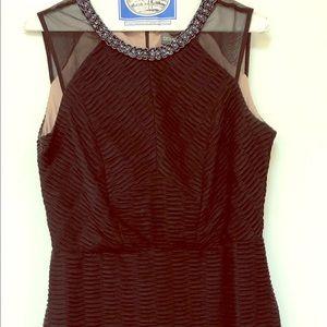 Donna Rocco beaded black dress
